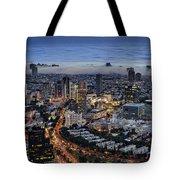 Evening City Lights Tote Bag by Ron Shoshani
