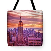 Evening In New York City Tote Bag by Sabine Jacobs