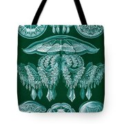 Examples Of Discomedusae Tote Bag by Ernst Haeckel