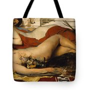 Exhausted Maenides Tote Bag by Sir Lawrence Alma Tadema