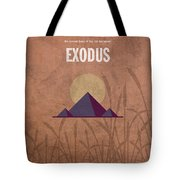 Exodus Books Of The Bible Series Old Testament Minimal Poster Art Number 2 Tote Bag by Design Turnpike