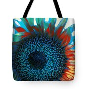 Eye Of The Sunflower Tote Bag by Music of the Heart