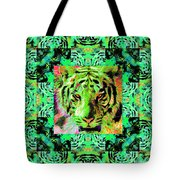 Eyes of The Bengal Tiger Abstract Window 20130205m180 Tote Bag by Wingsdomain Art and Photography