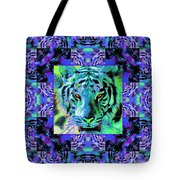 Eyes Of The Bengal Tiger Abstract Window 20130205m80 Tote Bag by Wingsdomain Art and Photography