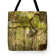 Fabulous Spanish Moss Tote Bag by Christine Till