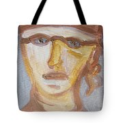 Face Five Tote Bag by Shea Holliman