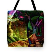 Face In The Rock Moon Glow And Night Vision Tote Bag by Elizabeth McTaggart