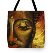 Face Of Buddha  Tote Bag by Corporate Art Task Force