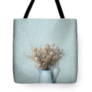 Faded Bouquet In Blue Tote Bag by Artskratches