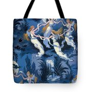 Fairies In The Moonlight French Textile Tote Bag by Photo Researchers