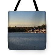 Fairmount Dam And Boathouse Row Tote Bag by Photographic Arts And Design Studio