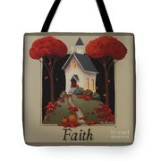 Faith Country Church Tote Bag by Catherine Holman