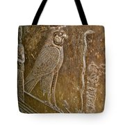 Falcon Symbol For Horus In A Crypt In Temple Of Hathor In Dendera-egypt Tote Bag by Ruth Hager