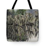 Fall In Norfolk Volunteers Tote Bag by Frank Gillett