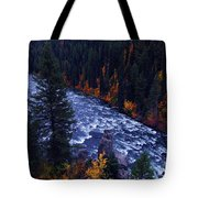 Fall Lined River Tote Bag by Raymond Salani III
