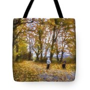 Fall Stroll Tote Bag by Barry Jones