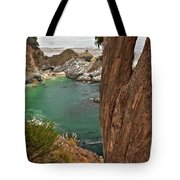 Falling Into The Bay Tote Bag by Adam Jewell