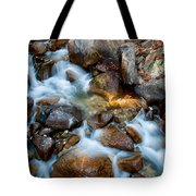 Falls And Rocks Tote Bag by Cat Connor