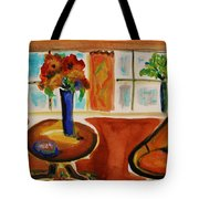 Family Room Corner Tote Bag by Mary Carol Williams