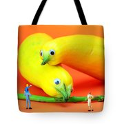 Family Watching Animals In Zoo Tote Bag by Paul Ge