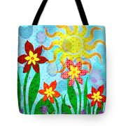 Fanciful Flowers Tote Bag by Shawna  Rowe
