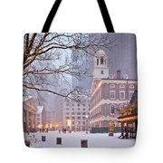 Faneuil Hall In Snow Tote Bag by Susan Cole Kelly