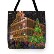Faneuil Hall Night Tote Bag by Joann Vitali