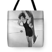 Fanny Brice And Beach Toy Tote Bag by Underwood Archives