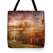 Farm - Barn - Shaker Barn  Tote Bag by Mike Savad