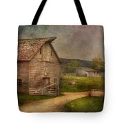 Farm - Barn - The Old Gray Barn  Tote Bag by Mike Savad