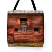 Farm - Barn - Visiting The Farm Tote Bag by Mike Savad