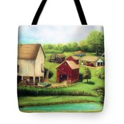Farm Tote Bag by Bernadette Krupa