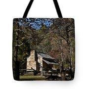 Farm Cabin Cades Cove Tennessee Tote Bag by Douglas Barnett