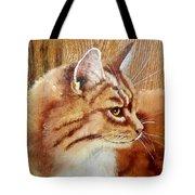 Farm Cat On Rustic Wood Tote Bag by Debbie LaFrance