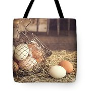 Farm Fresh Eggs Tote Bag by Edward Fielding