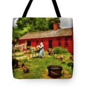 Farm - Laundry - Old School Laundry Tote Bag by Mike Savad