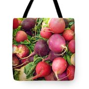 Farmers' Market Radishes Tote Bag by Jean Hall