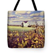 Farmhouse And Grapevines Tote Bag by Jill Battaglia