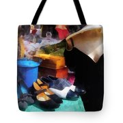 Fashion - Clothing For Sale At Flea Market Tote Bag by Susan Savad