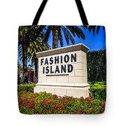 Fashion Island Sign In Newport Beach California Tote Bag by Paul Velgos
