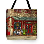 Fat Hen Grocery Painted Tote Bag by Steve Harrington
