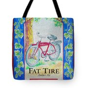 Fat Tire Tote Bag by Cheryl Young