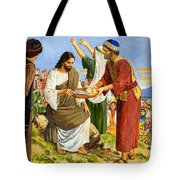 Feeding the Five Thousand Tote Bag by Clive Uptton