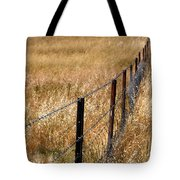 Fenced Off Tote Bag by Justin Woodhouse