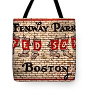 Fenway Park Boston Redsox Sign Tote Bag by Bill Cannon