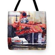 Ferrari 150 Italia Fernando Alonso F1 2011  Tote Bag by Yuriy  Shevchuk