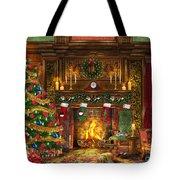 Festive Fireplace Tote Bag by Dominic Davison