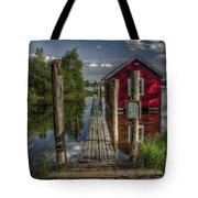 Fetsund Timber Booms part II Tote Bag by Erik Brede