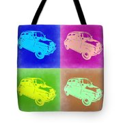 Fiat 500 Pop Art 2 Tote Bag by Naxart Studio