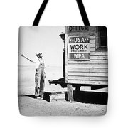 Field Office Of The Wpa Government Agency Tote Bag by American Photographer